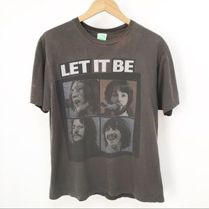 2005 Distressed Beatles band graphic tee sz L